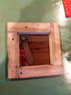 Cut Barn wood and attached 12x12 mirror