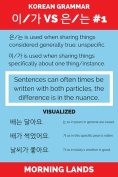The differences explored between 이/가 and 은/는. Let's see when it's better to use 이/가 and 은/는. Shall we start start with specific vs nonspecific statements? #LearnKorean #Korean #한국어