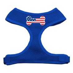 Mirage Pet Products Bone Flag USA Screen Print Soft Mesh Dog Harnesses, X-Large, Blue *** For more information, visit image link. (This is an affiliate link and I receive a commission for the sales)