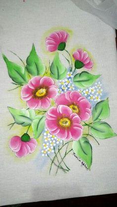 Flor - Pintura em tecido