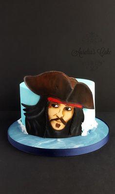 Jack Sparrow cake by Aurelia's Cake