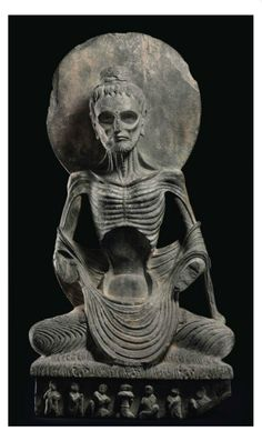 A highly important gray schist figure of the Emaciated Siddhartha, or 'Fasting Buddha' . GANDHARA, 3RD/4TH CENTURY   Christie's