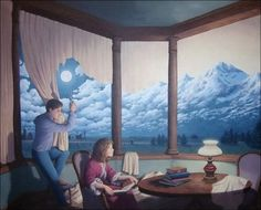 "Canadian painter Rob Gonsalves has a unique style of art known as ""Magic Realism."""
