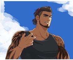 Final Fantasy Characters, Final Fantasy Art, Fantasy Male, Fantasy Series, Final Fantasy 15 Gladiolus, Character Art, Character Design, Guy Drawing, Hot Anime Guys