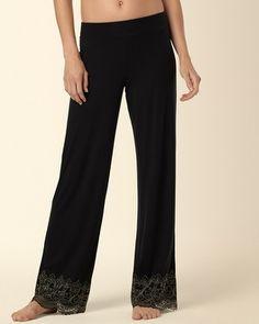 e3b2f9b80d Soma Intimates Embraceable Scroll Lace Pajama Pant Black Gold   somaintimates Black Pants