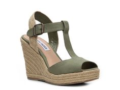 SM Womens Wade Canvas Wedge Sandal