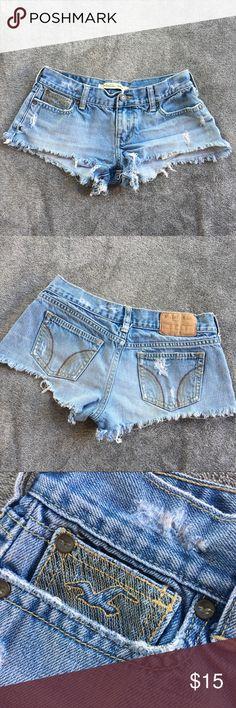Hollister Denim Shorts Hollister • Distressed Denim Cutoff Shorts • Size 3 Hollister Shorts