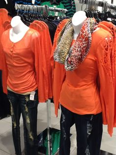 Dress up a casual long sleeve top with lace or crochet accents!  Lace top $8.99, crochet top $10.99 #discoveryclothing #fall2013