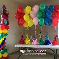 Elmo First Birthday, Boys 1st Birthday Party Ideas, Baby Birthday, Sesame Street Decorations, Sesame Street Centerpiece, Elmo Party, Mickey Party, Dinosaur Party, Dinosaur Birthday