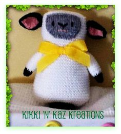 Knitted Baby  Lamb by KikkinKazKreations on Etsy