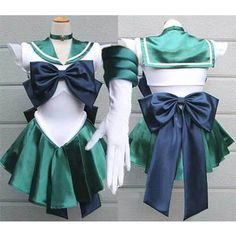 Sailor Moon Neptune Kaiou Uniform Costume Cosplay Dress Anime Manga #Unbranded #CompleteOutfit