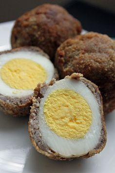 Scotch Eggs from Narnia  Serve with some some HP sauce for extra yumminess.