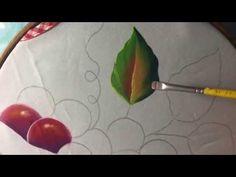 Pintura En Tela Uvas Rojas con cony - YouTube