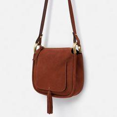 Image 2 of LEATHER TASSEL MESSENGER BAG from Zara