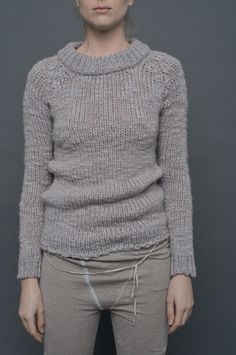 Humanoid - MINA knitted top with a double layer of jersey at back