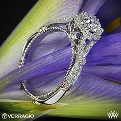 PIN it to WIN it, for a chance to win 2,500 Verragio Engagement Ring set with a 1 carat blue sapphire from Whiteflash.com. Featured here is a 14k White Gold Verragio Twisted Split Shank Diamond Engagement Ring set with a beautiful 0.813 ct G SI1 Expert Selection Round Diamond.
