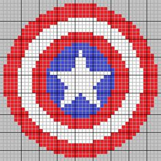 Captain America Knitting/Cross Stitch Pattern by SummerCorn.deviantart.com on…