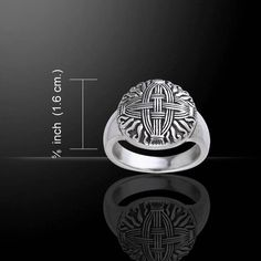 Brigid's Cross - St. Brighid's Cross - Celtic Triple Goddess Ring in .925 Sterling Silver This special order listing allows you to select the size ring you need, from US Size 5 - 15, as a pre-order. I