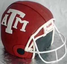 Texas A Football Helmet. My Aggie Cake!