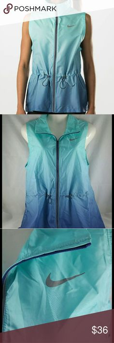 Nike Gradients Women's Running Vest NWT Size - Medium  The Nike Gradient Women's Running Vest features adjustable features that allow you to customize the fit and lightweight, wind-resistant fabric for comfort and coverage with a modern twist.  Stay Dry Dri-FIT fabric helps keep you dry and comfortable by wicking sweat away to the fabric's surface, where it quickly evaporates. Wind Resistance Lightweight taffeta fabric blocks the wind to help keep you warm. Nike Jackets & Coats Vests