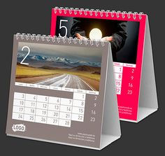 Calendarios de mesa personalizados Colour Line 15x14 cm  Características:  - Impreso a todo color  - 14 páginas (7 hojas a 2 caras)  - Papel estucado brillo 200 g.  - Encuadernación wire-o (similar espiral)  - Peana cartón super-grueso  - Tu logo en todas las páginas  - 1 foto a elegir en cada página  - Idiomas a elegir  - Calendario lunar  $1.85 Polaroid Film, Diy, Color, Paper, Templates, Moon Calendar, Printed, Sparkle, Languages