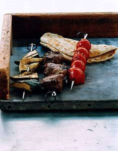 Herbed Lamb, Tomato, and Zucchini Kebabs