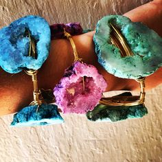 New Bourbon and Boweties geode druzy bangles in stock online! Free Shipping and the best prices! www.twocumberland.com