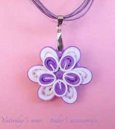 Quilled paper pendant by Yesterday's news - today's accessories