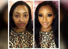 27 Before-And-After Photos That Show Just How Powerful Makeup Is. Make up. Le Contouring, Contour Makeup, Contouring And Highlighting, Flawless Makeup, Beauty Makeup, Face Makeup, Hair Beauty, Amazing Makeup Transformation, Makeup Looks