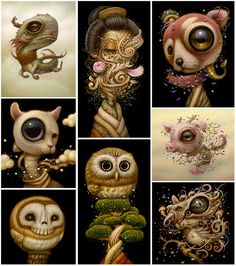 The visionary pop surrealism art of Naoto Hattori including paintings, illustrations, fine art, custom paintings, latest news, upcoming shows, blog, contact.