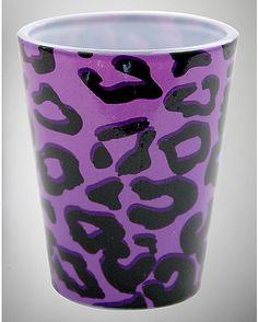 3 oz. Purple Cheetah Shot Glass - Spencer's