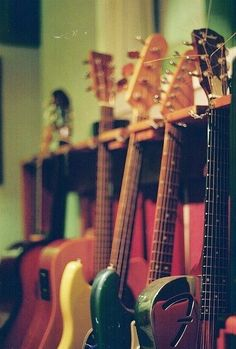 I love going into music store and immediately checking out their guitars.