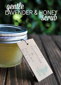 Gentle Lavender Honey Sugar Scrub - great for face, hands and cuticles!  And only 4 ingredients!