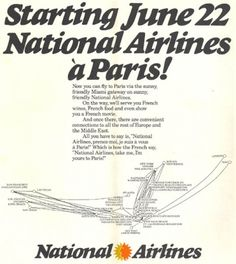 1977 - May 1 - National Airlines Timetables, Route Maps and History.