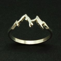Silver Mountain Range Ring – Mountain Jewelry Jewellery, Ring Size UK United Kingdom and Australia B Sterling Silver Mountain Range Ring Hope Ring Dream by yhtanaff Cute Jewelry, Jewelry Box, Jewelery, Silver Jewelry, Jewelry Accessories, Gold Jewellery, Silver Earrings, Jewelry Armoire, Jewelry Stores