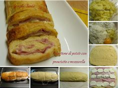 polpettone di patate con prosciutto e mozzarella