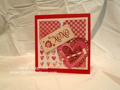 Valentine's Day Card using Creative Memories Watercolor Love Product