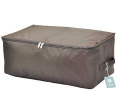 UNDER BED $9.99 Over-size Clothes Storage Bins, Beddings/blanket Organizer Storage Containers, House Moving Bag, Washable and Moistureproof (Coffee, L)