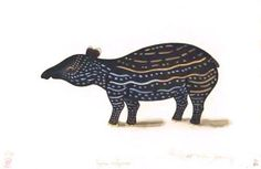 Vintage printable tapir. Scan of 2 d images in the public domain believed to be free to use without restriction in the US.