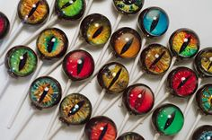 6 Original Creature Eyes Lollipops TM Spooky by designerlollipop, $15.00