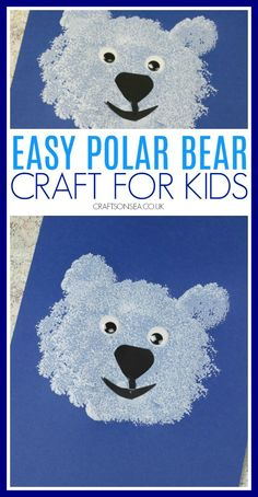 An easy polar bear craft for preschoolers great for learning about arctic animals