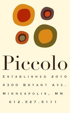 "Love Piccolo!!! (it's my cousin in laws restaurant, but I would still love it if we weren't ""related"")."