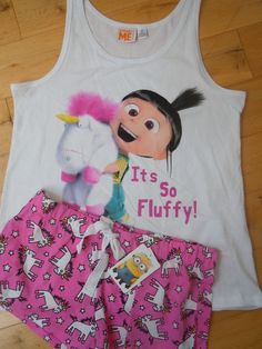 Primark DESPICABLE ME MINIONS AGNES IT`S SO FLUFFY Ladies Pyjama Set NEW