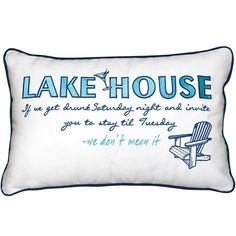 Lake House Invitation Pillow - New!