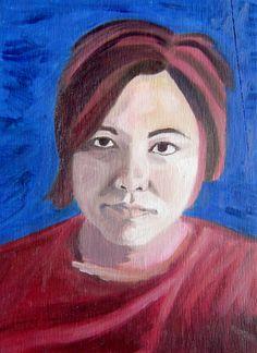 self-portrait in oil