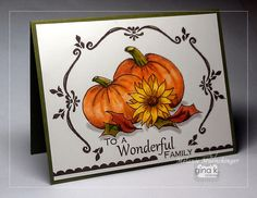 Card by Melanie Muenchinger.  Uses Theresa Momber's Always Autumn stamp set and my Fabulous Frame Fillers set. Hands, Head and Heart