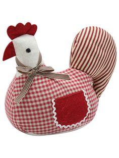 M Homeware Gingham chicken doorstop - I want one!