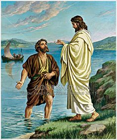 Peter meets Jesus at the Sea of Tiberius Luke 5:1-11