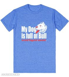 Pitbull | Full of Bull Funny PItbull T-shirt - Nobody will mess with you when you're wearing this tee! #Skreened