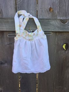 Floral and Lace Halter/ 12-18 Months/ Halter Top/Repurposed/ Upcycled by BloomersAndPearls on Etsy